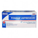 "Dukal 9004 Sterile Wooden Adult Tongue Depressors, 6"" x 3/4"""