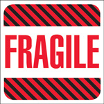 "Tape Logic™ 4"" x 4"" - ""Fragile"" Labels"