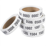 "Tape Logic™ 1"" x 1 1/2"" (0001-0500) Consecutive Numbered Labels"