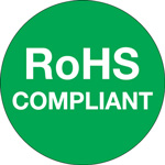 "Tape Logic™ 1"" Circle - ""RoHS Compliant"" Green Labels"
