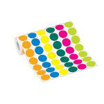 "Box Partners 1 1/2"" Fluorescent Bright Yellow Circle Label"