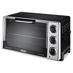 Delonghi 12.5-Liter Convection Oven with Rotisserie, 0.5 cu. ft., Black