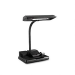 "Dana Lighting Deluxe Organizer Fluorescent Desk Lamp, Gooseneck, 26 1/2"" High, Black"