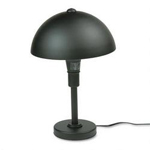 Dana Lighting Touch Sensor Table Lamp with Steel Shade, Matte Black, 19 1/2""