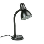 "Dana Lighting Gooseneck Desk Lamp with Metal Shade & Easy Dial Cap Switch, 18"" High, Black"