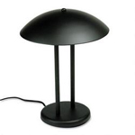 "Dana Lighting Two Pole Incandescent Dome Lamp, 15"" High, 13"" Diameter Metal Shade, Matte Black"
