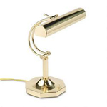 "Dana Lighting Solid Brass Adjustable Piano Lamp for 2 Tubular Incandescent 40W Bulbs, 16"" High"