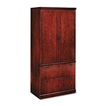 DMI Furniture Belmont 7131-07 Lateral File Storage Cabinet - 2 Drawer - 2 Door - Sunset Cherry