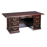DMI Furniture Governor's Series Double Pedestal Desk, Mahogany, 72w x 36d x 30h