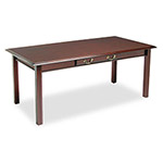 DMI Furniture Governor's Series Table Desk, Mahogany, 72w x 36d x 30h