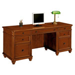 "DMI Furniture Kneehole Credenza, Ctr. Drawer, Felt-Line/Box Drawer, 72""x24""x30"""