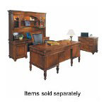 "DMI Furniture Executive Desk, Box Drawer, Letter/Legal Filing, 66""x32""x30"""