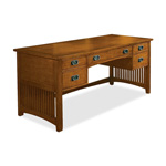 DMI Furniture Midlands 7661-32 Executive Desk - Double - Cured Oak