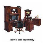 "DMI Furniture Kneespace Credenza with Top, Left/Right Ped., 72""x24""x30"""