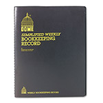 Dome Publishing Company Bookkeeping Record, Weekly, 11 x 8 1/2, Wirebound, 128 Pages, Brown Cover