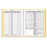 Dome Publishing Company Bookkeeping Record, Monthly, 11 x 8 1/2, Wirebound, 128 Pages, Tan Cover