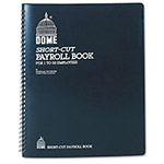 Dome Publishing Company Payroll Record, Single Entry, 1 50 Employees, 11 1/4x8 3/4, Weekly, Wirebound