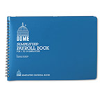 Dome Publishing Company 1 15 Employee Weekly Payroll Record Books, 7 1/2x10 1/2, Wirebound, Blue