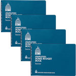 "Dome Home Budget Books, 64 Pages, 10-1/2"" x 7-1/2"", 4/BD, Teal"
