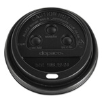Dopaco® Dome Lids for Hot Paper Cups, For 12, 16, 20, 24 Oz Cups, Black, Plastic