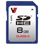 V7 Flash Memory Card, 8 GB, SDHC
