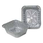 Durable Packaging Aluminum Closeable Containers, 4 7/8w x 1 13/16d x 5 3/4h, Silver, 1000/Carton