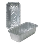 Durable Packaging Aluminum Loaf Pans, 4 9/16w x 2 3/8d x 8 11/16h, Silver, 500/Carton