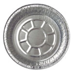 "Durable Packaging Aluminum Round Containers, 7 1/8"" dia, Silver, 500/Carton"