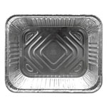 Durable Packaging Aluminum Steam Table Pans, 12 3/4w x 10 3/8d x 2 9/16h, Silver, 100/Carton