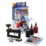 Data Products 60391 Tri-Color Ink Station Refilling Kit with Cap Remover for Canon Inkjet BC 21, Color