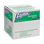 Ziploc® Resealable Sandwich Bags, 1.2mil, 6 1/2 x 6, Clear, 500/Box