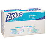 Ziploc® Commercial Resealable Freezer Bag, Zipper, 2gal, 13 x 15 1/2, Clear, 100/Carton