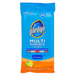 Pledge Multi-Surface Cleaner Wet Wipes, Cloth, 7 x 10, 25/Pack
