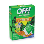 OFF! Deep Woods Towelettes, Nongreasy, Resist Perspiration