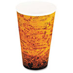 Dart Container Foam Hot/Cold Cups, 20 oz., Brown/Black, 500/Carton