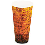 Dart Container Foam Hot/Cold Cups, 24 oz., Brown/Black, 500/Carton
