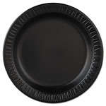 "Dart Container Plastic Dinnerware, Plate, 9"" dia, Black, 125/Pack, 4 Packs/Carton"