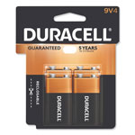 Duracell Coppertop 9V Alkaline Batteries, 4 Pack