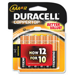 Duracell Coppertop AAA Alkaline Batteries, Reclosable 12 Pack