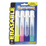 Drimark Highlighter, Erasable, Tank Style, Yellow, Pink, Green, Blue