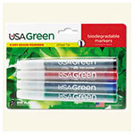 Drimark Assorted USA-Green Biodegradable Low Odor Dry Erase Markers