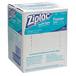 Ziploc® Double Zipper Freezer Bags, 1qt, 2.7mil, 7 x 7 3/4, Clear w/Label, 300/Carton