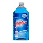Windex Powerized Glass Cleaner with Ammonia-D, 67.6oz Refill, Unscented, 6/Carton