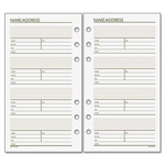 "Day Runner Telephone/Address Pages, 3-3/4""x6-3/4"", 30 Sheets, White"
