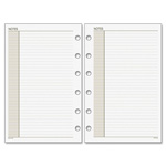 "Day Runner Plnr Note Pages Refill, 8-1/2""x11', 30Shts, Rld Blks, WE"