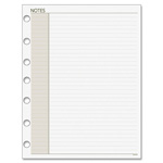 "Day Runner Lined Note Pad Refills, 8-1/2""x11"", 30Shts, White"
