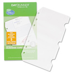 "Day Runner Business Card Holder, 3-3/4""x6-3/4"", Side Loading, Clear"