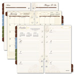 "Day Runner Wkly/Mthly Planner Refill,2PPW,12Mths Jan-Dec,3-3/4""x6-3/4"""