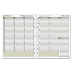 "Day Runner Planner Refill, 1PPD, 12Mth Jan-Dec, 8-1/2""x11"", White"