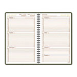At-A-Glance Harrison Weekly Appointment Book, 12 Month, One Week/Spread, 4-7/8 x 8, Brown